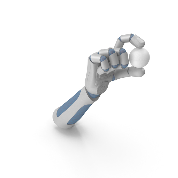 RoboHand Holding a Ping Pong Ball PNG & PSD Images