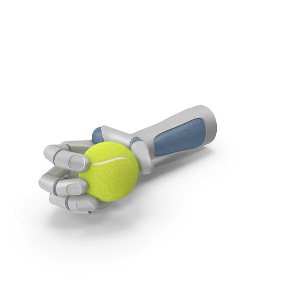 Robot: RoboHand Holding a Tennis Ball PNG & PSD Images
