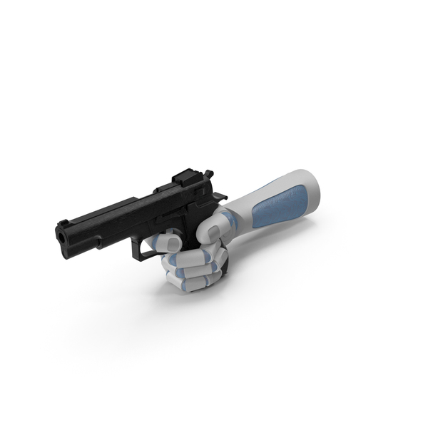 RoboHand Pointing a Gun PNG & PSD Images