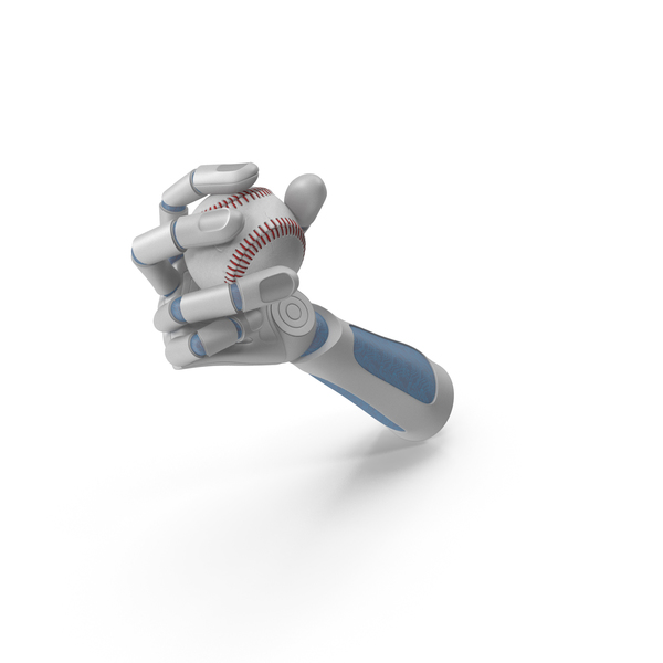 Robot Hand Holding a Baseball PNG & PSD Images