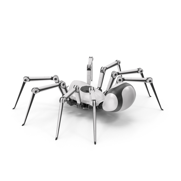Robot Spider White Black PNG & PSD Images
