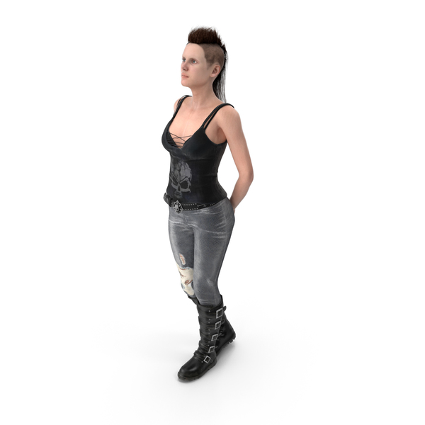 Rock Woman Standing PNG & PSD Images