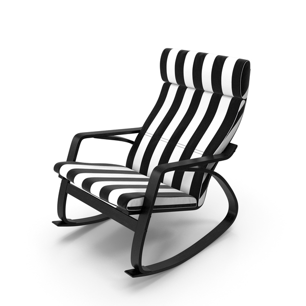 Rocking Chair Black and White PNG & PSD Images