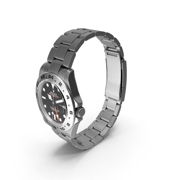 Rolex Explorer II Black Dial PNG & PSD Images
