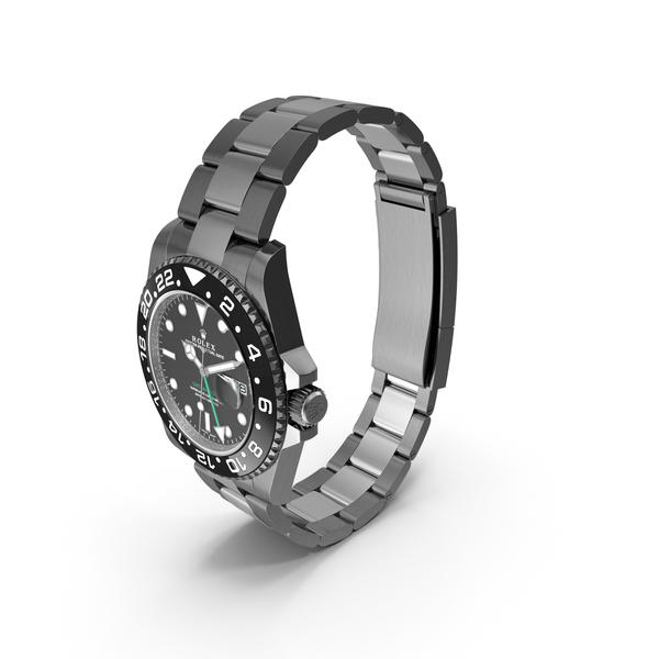 Rolex GMT-Master II Black PNG & PSD Images