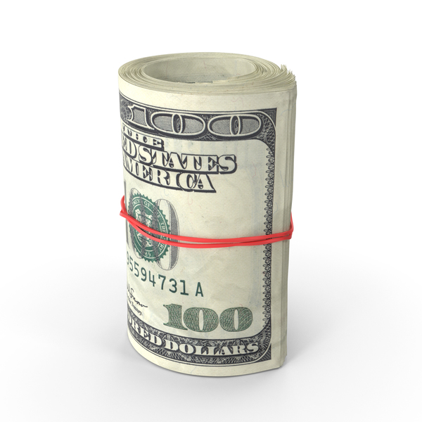 Roll of One Hundred Dollar Bills PNG & PSD Images