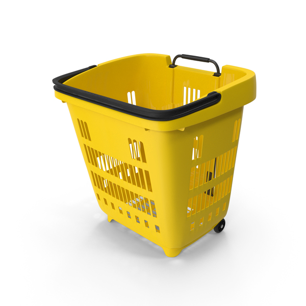 Roll Shopping Basket Folded Handle PNG & PSD Images