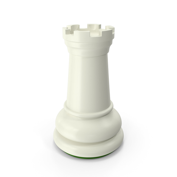Chessmen: Rook White Green PNG & PSD Images