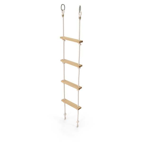 Rope Ladder with Wooden Rungs PNG & PSD Images