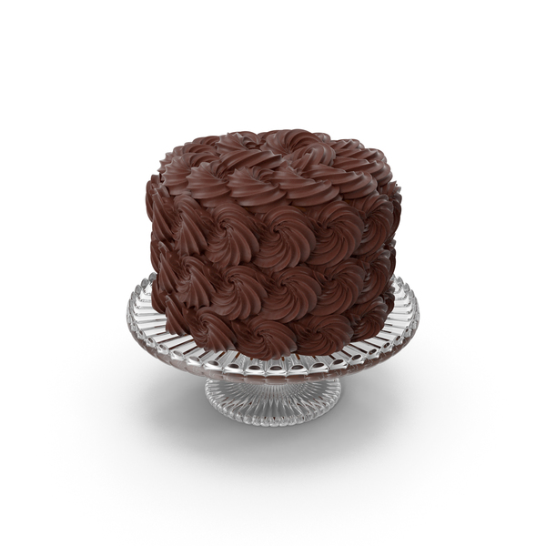 Rose Swirl Chocolate Cake PNG & PSD Images