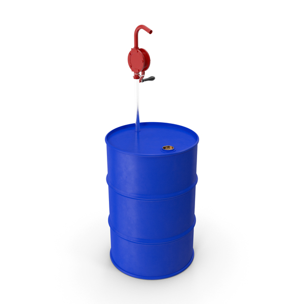 Drum: Rotary Pump with Oil Barrel PNG & PSD Images