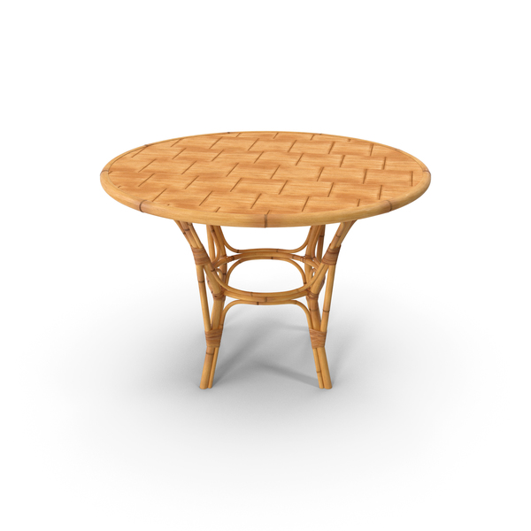 Patio: Round Bamboo Dining Table PNG & PSD Images