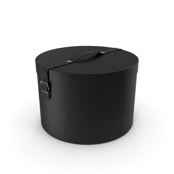 Round Box Black PNG & PSD Images