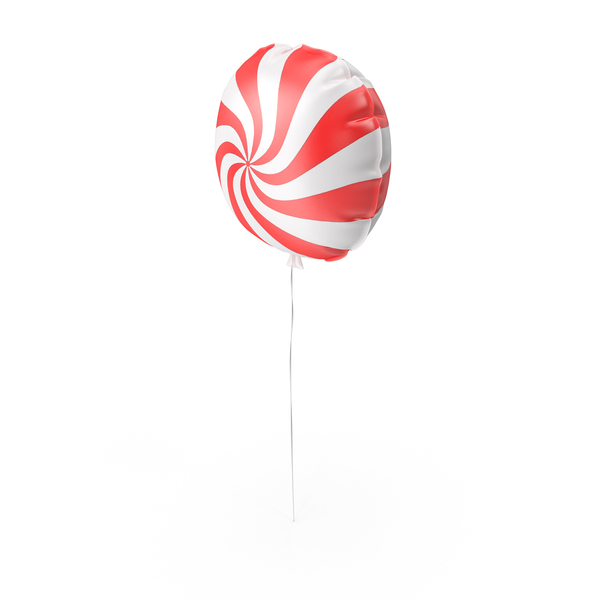 Balloons: Round Candy Swirl Red Balloon PNG & PSD Images