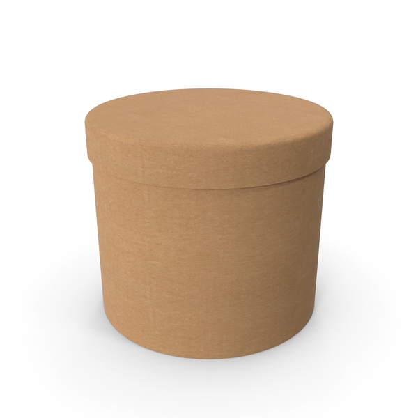 Round Cardboard Box PNG & PSD Images