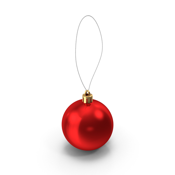 Round Christmas Ornament PNG & PSD Images