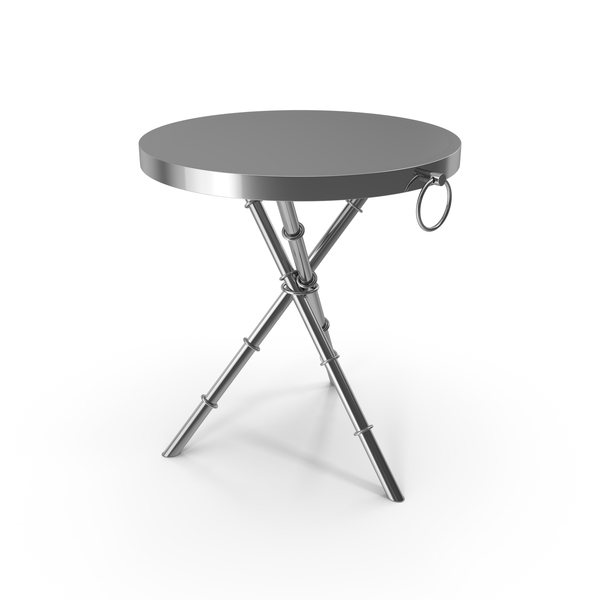 Round Chrome Side Table PNG & PSD Images