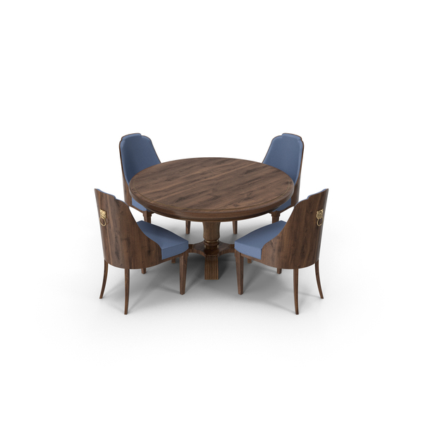 Room: Round Dining Table Set PNG & PSD Images