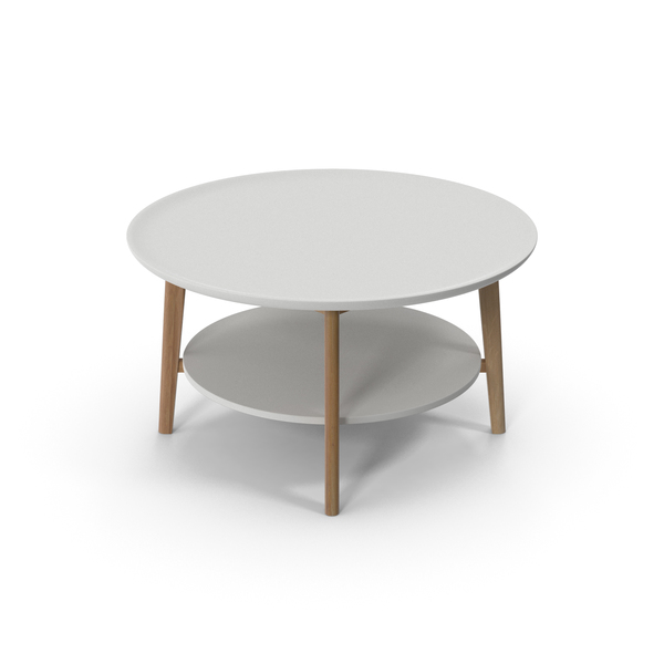Round Double Coffee Table PNG & PSD Images
