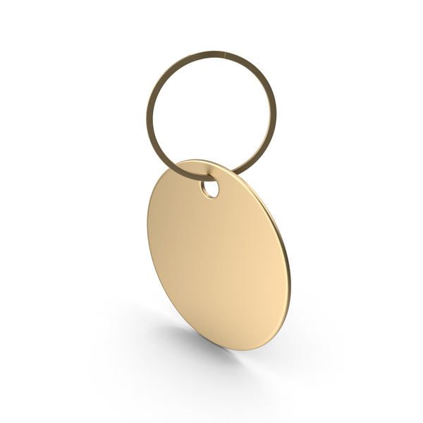 Round Keytag Gold PNG & PSD Images