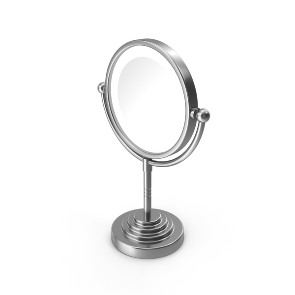 Round Magnifying Led Illuminated Bathroom Mirrors PNG & PSD Images
