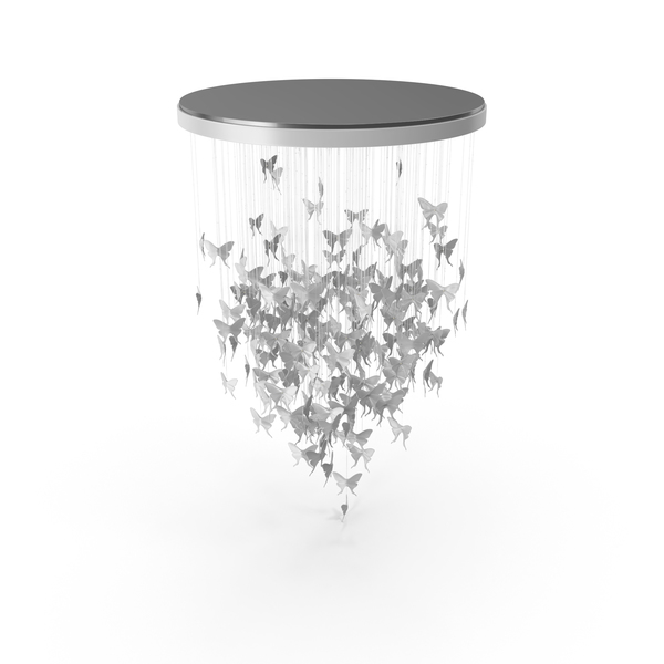 Round Sagarti Tenea Butterfly Ceiling Chandelier PNG & PSD Images