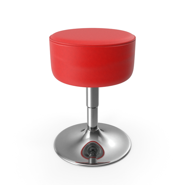 Bar: Round Swivel Stool with Chrome Foot PNG & PSD Images