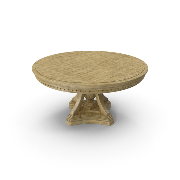 Round Table Light Wood PNG & PSD Images