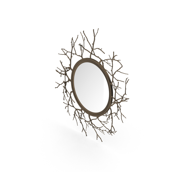 Round Twig Mirror PNG & PSD Images