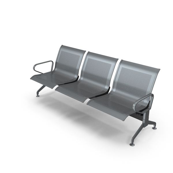 Seating: Row of Airport Chairs PNG & PSD Images