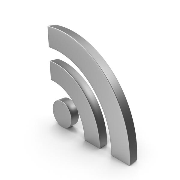 RSS Symbol Metal PNG & PSD Images