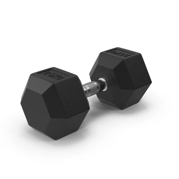 Dumbbell: Rubber Dumbell 25kg PNG & PSD Images