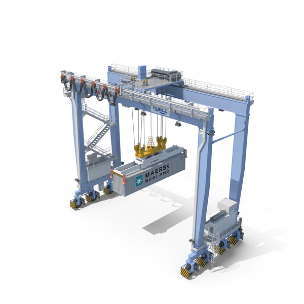 Rubber-Tyred Gantry Crane Terex PNG & PSD Images