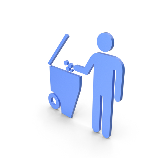 Garbage Container: Rubbish Bin Blue Symbol PNG & PSD Images