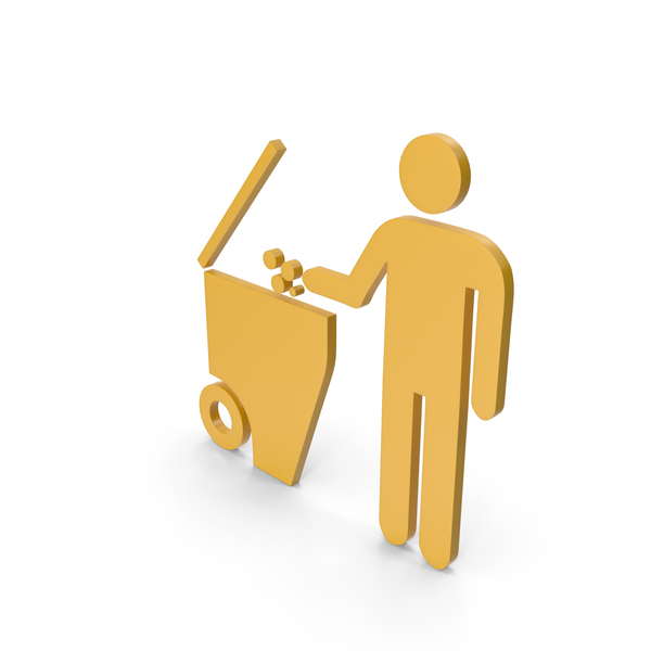 Garbage Container: Rubbish Bin Yellow Symbol PNG & PSD Images