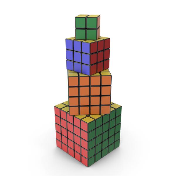 Rubik's Cube Set PNG & PSD Images