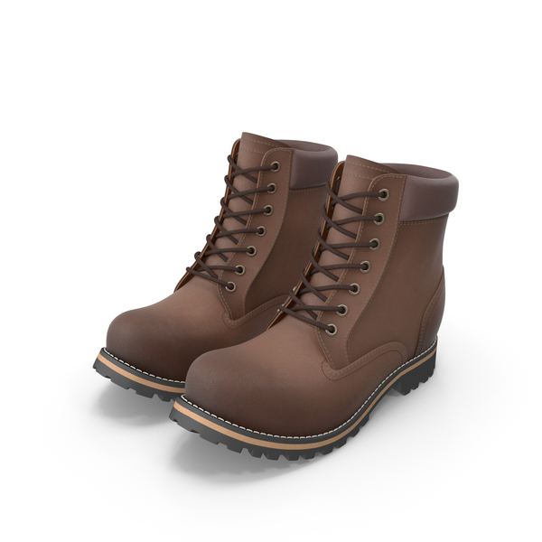 Rugged 6-Inch Boots PNG & PSD Images