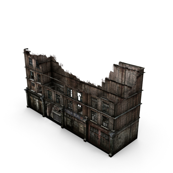 City: Ruined Building Object