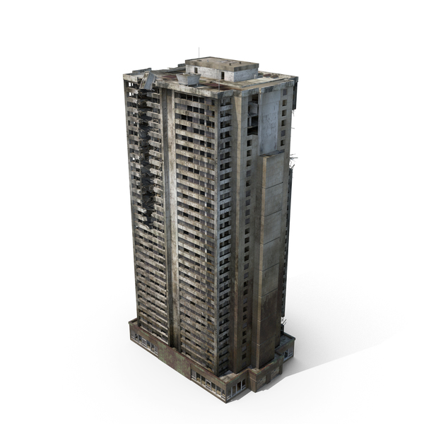 Ruined Building - Destroyed Skyscraper PNG & PSD Images