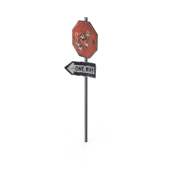 Ruined Stop Sign PNG & PSD Images