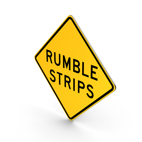 Rumble Strips New York State Road Sign PNG & PSD Images