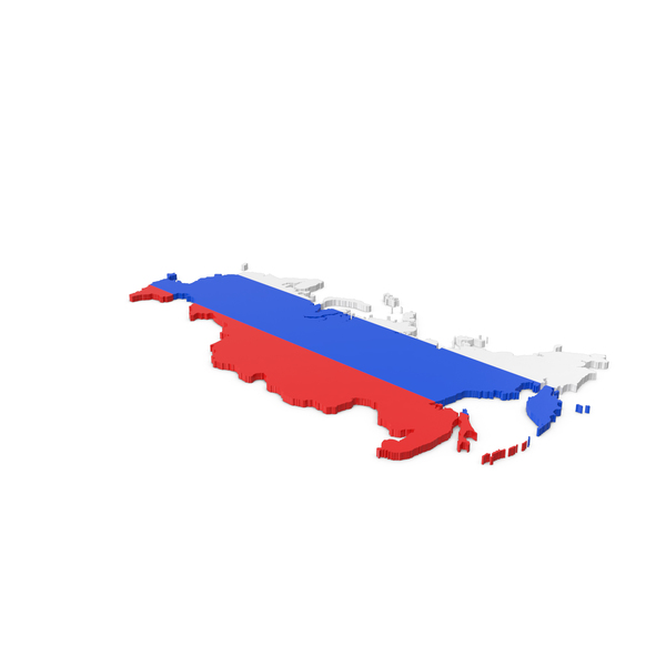 Map: Russia Contour with Crimea PNG & PSD Images