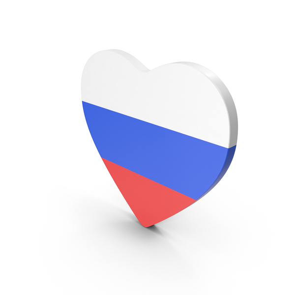 Russian: Russia Heart Flag PNG & PSD Images