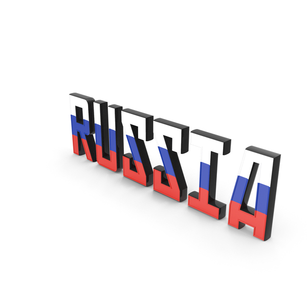 Language: Russia Text with Flag PNG & PSD Images
