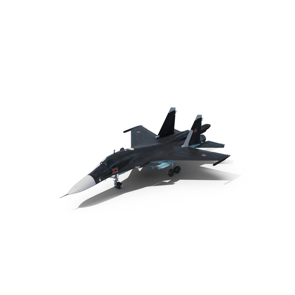Fighter Jet: Russian Air Force Su 34 PNG & PSD Images