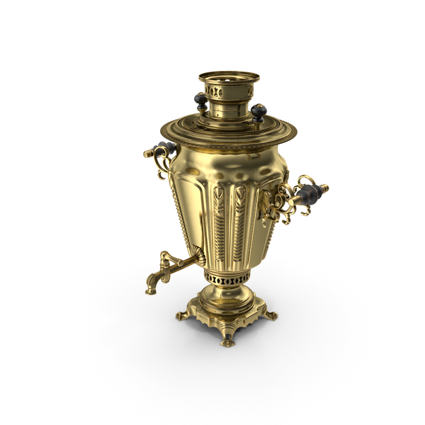 Russian Antique Brass Samovar PNG & PSD Images