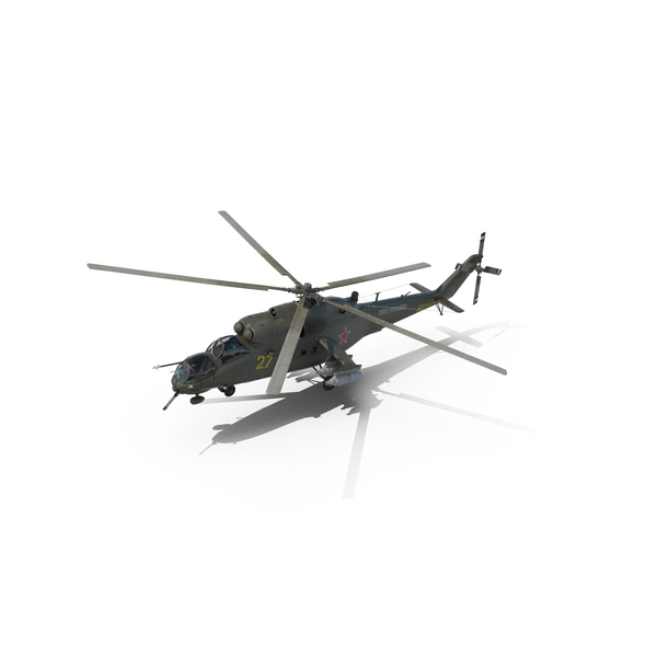 Russian Large Helicopter Gunship Mi-35M Hind PNG & PSD Images