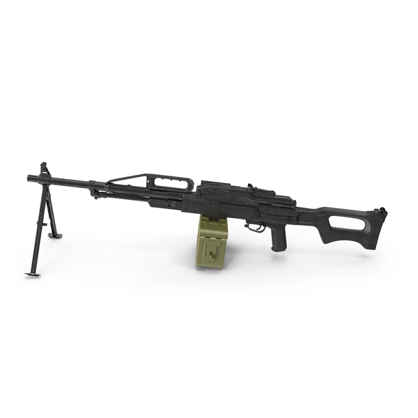 Russian Light Machine Gun Pecheneg PNG & PSD Images
