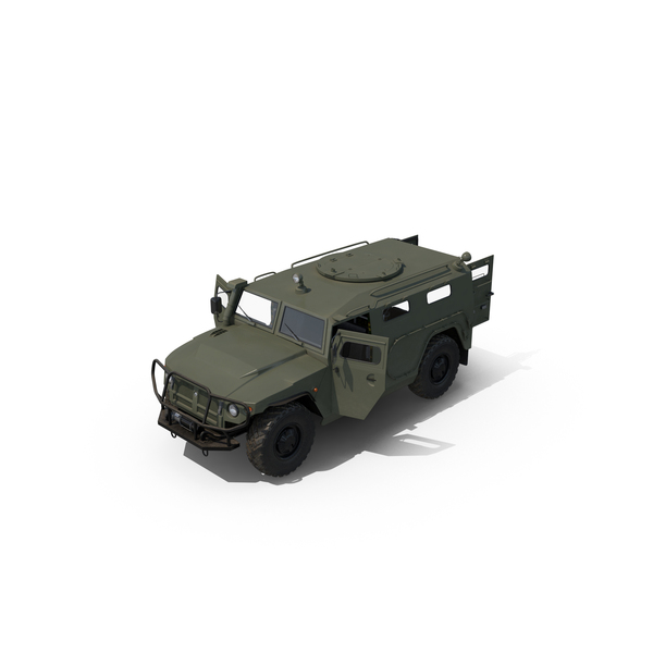 Military Truck: Russian Mobility Vehicle GAZ Tigr M Object