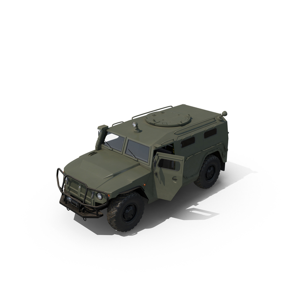 Military Truck: Russian Mobility Vehicle GAZ Tigr M PNG & PSD Images